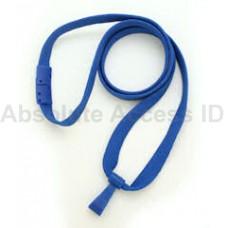 """3/8"""" Wide Royal Blue Break-Away Lanyard w/ no Flip Wide Plastic Hook (100 Qty)"""