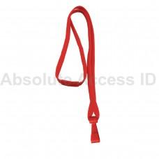 """3/8"""" Wide Red Break-Away Lanyard w/ no Flip Wide Plastic Hook (100 Qty)"""