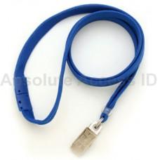 "3/8"" Wide Break-Away Lanyard w/Bull Dog Clamp Royal Blue Series (100 Qty)"