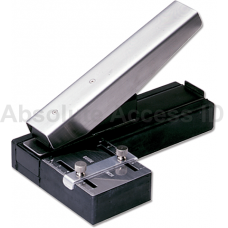 Stapler Style ID Card Slot Punch w/Adjustable Guide