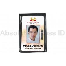 Magnetic Single 1 Pocket Vertical Badge Holder, Credit Card Size (50 Qty)