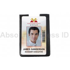 Magnetic Single 1 Pocket, Badge Holder, Vertical w/Thumb Notch, Credit Card Size (50 Qty)
