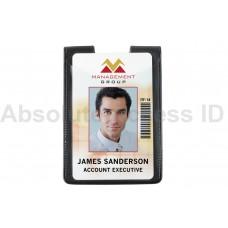 Magnetic Dual 2 Pocket Vertical Badge Holder w/Thumb Notch (50 Qty)