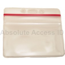 ZIPPER CLOSURE Horizontal  Thick Vinyl Card Holder (100 Qty)