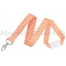 Zig Zag Chevron Pattern Break-Away Lanyard Series (10 Qty)