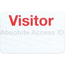 "Manual ONEstep Expiring TIMEbadge (1-Day ) - ""VISITOR"""