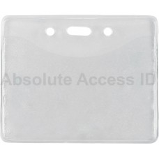 BADGE HOLDER W/SLOT/CHAIN HOLES (100 Qty)