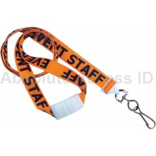 "LANYARD CUSTOM PRE PRINTED ""EVENT STAFF"" (100 Qty) Series"