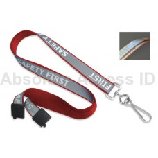 "REFLECTIVE ""SAFETY FIRST"" LANYARD  (100 Qty) Series"