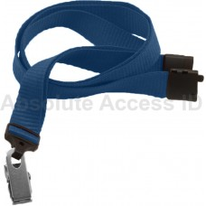 "5/8"" Ribbed Navy Blue Lanyard w/Bull Dog Clip (100 Qty) Series"
