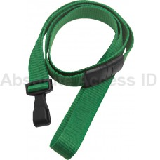 """5/8"""" Ribbed Lanyard Green w/Wide Plastic Hook (100 Qty) Series"""