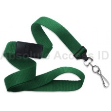 "5/8"" Ribbed Lanyard Green w/Swivel Hook (100 Qty) Series"