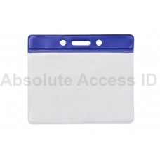 Color Bar Horizontal Vinyl Badge Holder Series (QTY 100) Series